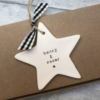 Childrens Names Ceramic Hanging Star