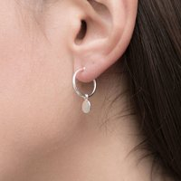 Paillette Drop Hoop Earring