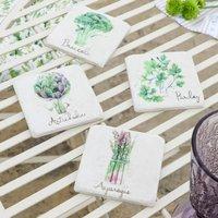 Set Of Four Garden Allotment Coasters