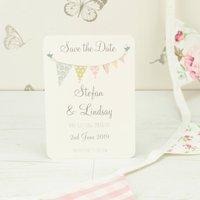 Personalised Bunting Save The Date Card