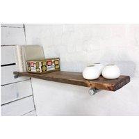 Jake Wood Shelf With Galvanised Steel Brackets
