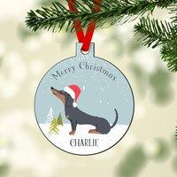 Personalised Dachshund Christmas Decoration