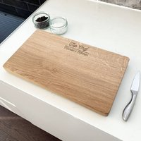 Personalised Top Chef Chopping Board