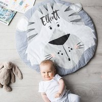 Personalised Tiger Face Baby Play Mat