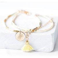 Gold Pineapple Bracelet Set, Gold