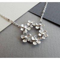 Bouquet Silver Necklace And Chain, Silver