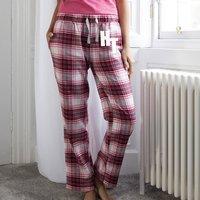 Personalised Monogram Tartan Pyjama Trousers