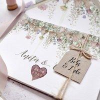 'Whimsical Barn' Concertina Fold Wedding Invitation