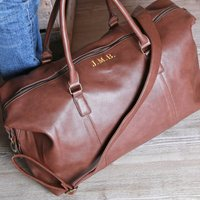 Weekend Holdall With Secret Message And Initials