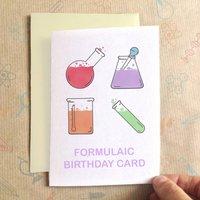 Personalised Formulaic Birthday Card, Black/Red/Orange