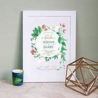 Personalised Botanical Wedding Print