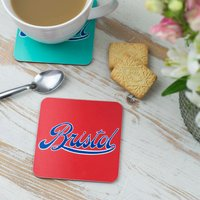 Bristol Logo Red Coaster
