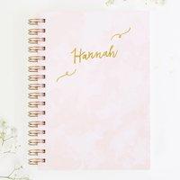 Personalised Luxury Pink Notebook