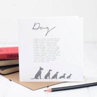 Dog Card With Dog Poem