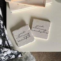 Good Morning Couple Stone Tile Set