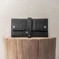 Kali Handmade Black Leather Purse
