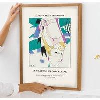 Fashion Magazine Exhibition Style Poster Print