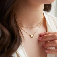 Personalised Love You More Heart Necklace Set