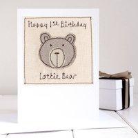 Personalised Bear Birthday Card