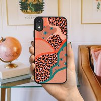 Abstract Leopard Print And Evil Eye iPhone Case