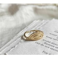 Dainty Half Moon Ring