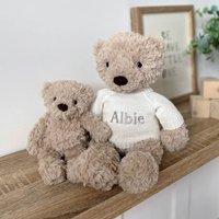 Personalised Fletcher Bear Medium Teddy Soft Toy