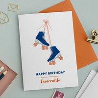 Personalised Skates Birthday Card