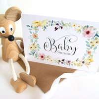 Baby Shower Personalised Card And Invitation Pack