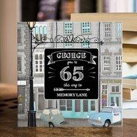 Personalised 65 Th Birthday Book 'Memory Lane'