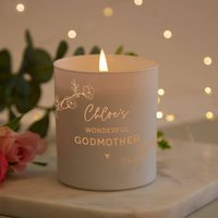 Godmother Christening Gift Candle