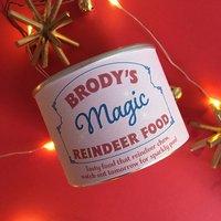 Personalised Magic Reindeer Food Tin