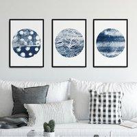 Gallery Wall Set Of Three Abstract Art Prints