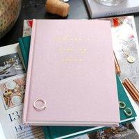Personalised Fabric Wedding Planner Notebook