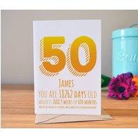 50th Birthday Milestone Card