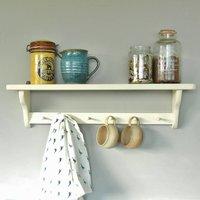 Shaker Kitchen Shelf, Linen/White/Grey