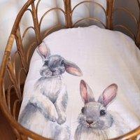 Bunny Rabbit Design Newborn Gift Set / Crib Sheet