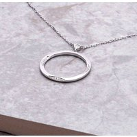 18ct White Gold And Diamond Purity Necklace, Gold
