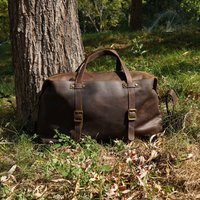 Large Genuine Leather Holdall