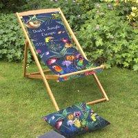 Fathers Day Tropical Garden And Beach Deckchair
