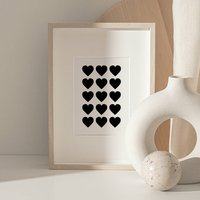Minimalist Hearts Print