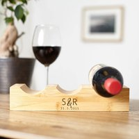 Personalised Couples Initials Wine Rack