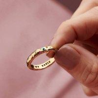 9ct Gold Diamond And Birthstone Confetti Ring, Gold