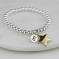 Personalised Childrens Gold Star Bracelet, Gold