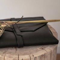 Maidan Black Soft Leather Clutch Bag