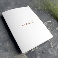 'Merci' Hand Foiled Thank You Card