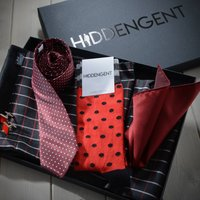 Tie, Pocket Square, Scarf Socks And Cuff Links Gift Set