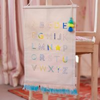 Alphabet Stitched Wall Hanging