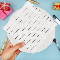 Silver Foil Pinstripe Paper Christmas Party Napkins
