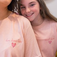 Love Lives Here Watercolour Tshirt Set