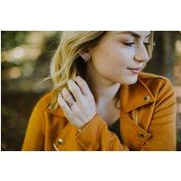 Twig Circle Stud Earrings